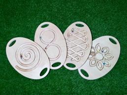 Комплект лабиринтов для развития моторики (4 шт.)