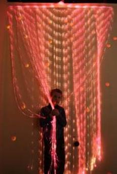 Пучок фиброоптических волокон с боковым свечением бокового свечения «Звездный дождь»