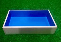 Юнгианская песочница  350х500х80 см с крышкой с синим дном
