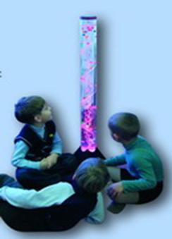 Безопасная колонна пузырьковая, 4 цвета подсветки с пультом управления