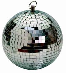 Зеркальный шар с приводом вращения диаметр 26 см
