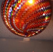 Шар зеркальный из цветных зеркал с приводом вращения диаметр 26 см