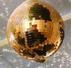 Шар зеркальный из «золотых» зеркал с приводом вращения диаметр 26 см