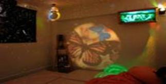 """Проектор светоэффектов """"Солнечный-100"""" с ротатором колес"""