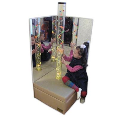 Детский зеркальный уголок с пузырьковой колонной