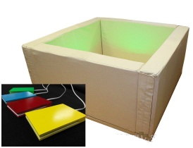 Вибромузыкальный сухой бассейн с клавишами управления (в комплекте 1200 шаров)