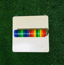 """Тактильно-развивающая панель """"Цветные круги"""""""