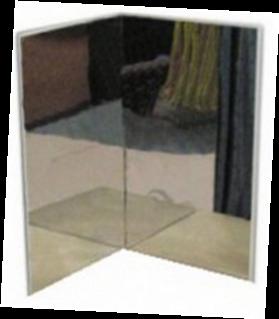 Комплект из двух акриловых зеркал для воздушнопузырьковой трубки