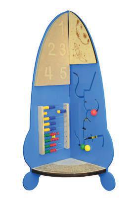 Напольный бизиборд «Ракета»