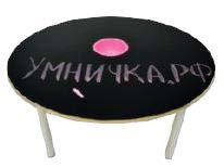 Стол «Круглый» для рисования мелом