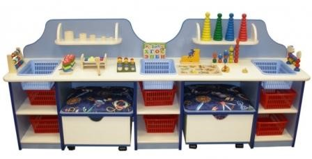 Дидактический стол с пуфиками  и наполнением
