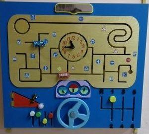Декоративно-развивающая панель «Юный водитель»
